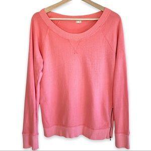 J Crew 100% Cotton Zip Hem Sweatshirt
